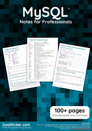 Tutorial MySQL Notes for Professionals book