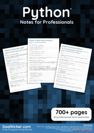 Tutorial Python Notes for Professionals book