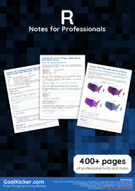 Tutorial R Notes for Professionals book