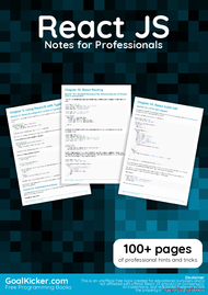 Tutorial React JS Notes for Professionals book