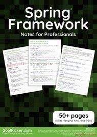 Tutorial Spring Framework Notes for Professionals book