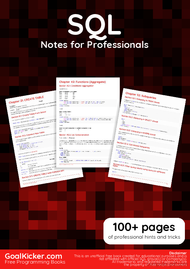 Tutorial SQL Notes for Professionals book