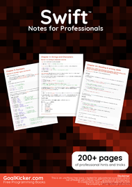 Tutorial Swift Notes for Professionals book