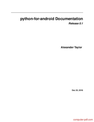 Tutorial Python for android Documentation