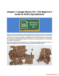 course The Ultimate Guide to Google Sheets