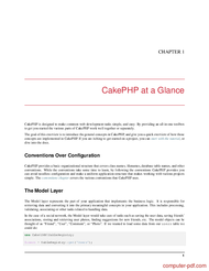 course CakePHP Cookbook Documentation