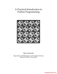 Tutorial A Practical Introduction to Python Programming