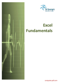 Tutorial Excel Fundamentals