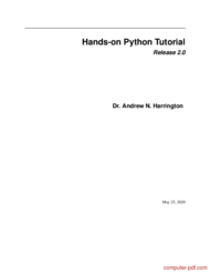 Tutorial Hands-on Python Tutorial