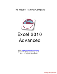 Tutorial Excel 2010 Advanced