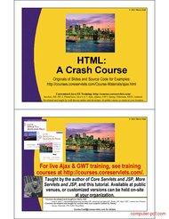 Tutorial HTML a Crash Course