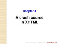 Tutorial A crash course in XHTML