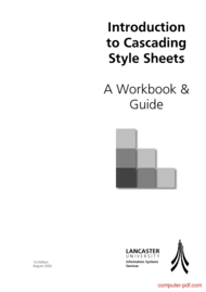 Tutorial Introduction to Cascading Style Sheets