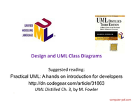 Tutorial Design and UML Class Diagrams