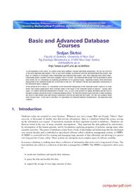 Tutorial Basic and Advanced Database