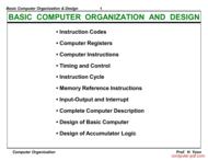 Tutorial Basic Computer Organization & Design