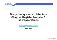 Tutorial Register transfer & Microoperations
