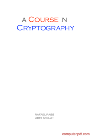 Tutorial A course in Cryptography