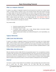 Tutorial BasicNetworkingTutorial