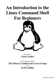 Tutorial An Introduction to the Linux Command Shell