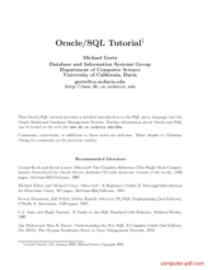 Tutorial Oracle/SQL Tutorial