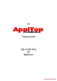 Tutorial SQL & SQL*Plus for Beginners