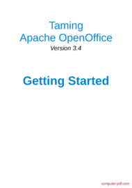 Tutorial Taming Apache OpenOffice