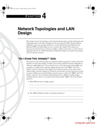 Tutorial Network Topologies and LAN Design