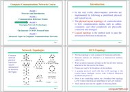 Tutorial Computer Communications Networks
