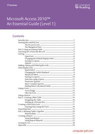 Tutorial Access 2010 An Essential Guide