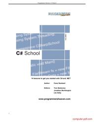 Tutorial C# School