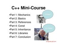 Tutorial C++ Mini-Course