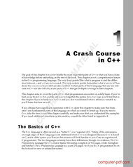 Tutorial A Crash Course in C++
