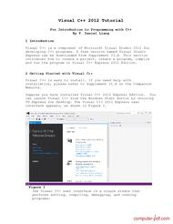 Tutorial Visual C++ 2012 Tutorial