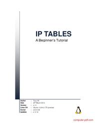 Tutorial IP TABLES A Beginner's Tutorial