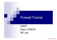 Tutorial Firewall Tutorial