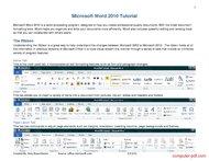 Tutorial Microsoft Word 2010 Tutorial