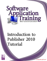 Tutorial Introduction to Publisher 2010 Tutorial