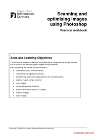 Tutorial Scanning and optimising images Photoshop