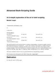 Tutorial Advanced Bash-Scripting Guide