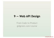 Tutorial Web API Design