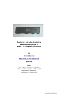 Tutorial Introduction to the AVR Assembly Language