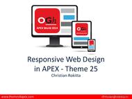 Tutorial Responsive Web Design in APEX