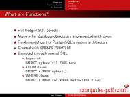 course PostgreSQL Functions By Example