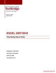 Tutorial pdf free excel 2007