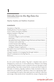 Tutorial Introduction to the Big Data Era