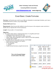 Tutorial Excel Basic: Create Formulas
