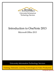 Tutorial Introduction to OneNote 2013