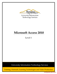 ms access 2010 free tutorial