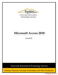 Tutorial Microsoft Access 2010 Level 2